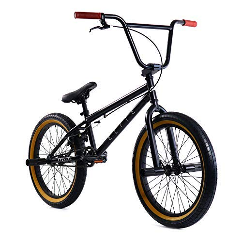 "Elite 20"" BMX Bicycle The Stealth Freestyle Bike (Black Gum)"
