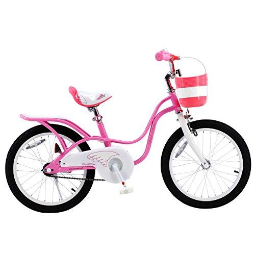 Royalbaby Little Swan Elegant Girl's Bike, 18 inch Wheels, Pink and White