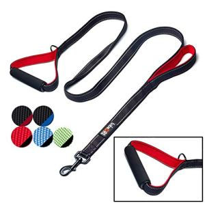 tobeDRI Heavy Duty Dog Leash - 2 Padded Handles, 6 feet Long - Dog Training Walking Leashes for Medium Large Dogs 2