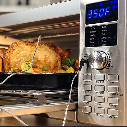 NUWAVE Bravo XL 1800-watt Smart Air Fryer Convection Oven with Integrated Digital Temperature Probe