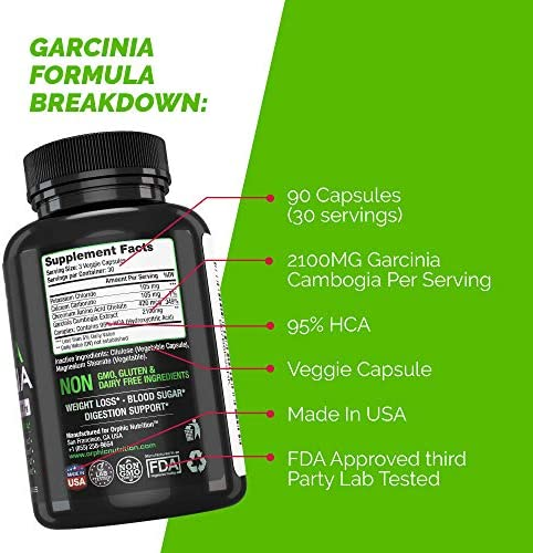 100% Pure Garcinia Cambogia Extract - Appetite Suppressant - Carb Blocker Capsules - 2100 MG - 90 Caps 8
