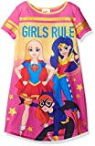 DC Comics Big Girl's Dc Super Heroes Short Sleeve Nightgown Pj, Pink, 7/8