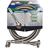 Eastman 41065 Washing Machine Hose with 90-Degree Elbow 3/4-Inch X 3/4-Inch, 1-Pair