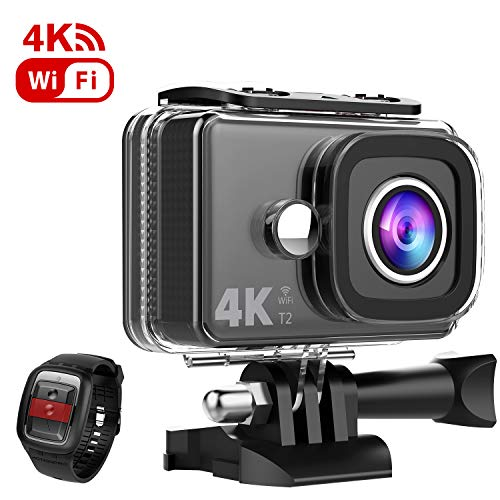 TEC.BEAN 4K Action Camera 45M Waterproof Camera EIS 170°Wide Angle 4X Zoom...
