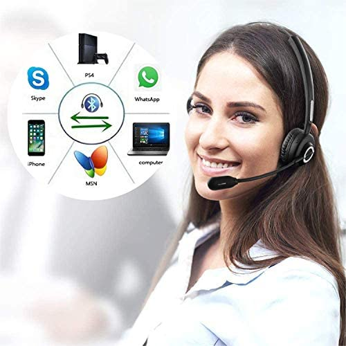 Office Bluetooth Headset With Mic,Wireless Bluetooth