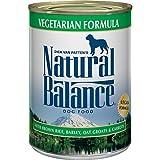 Natural Balance Vegetarian Formula with Brown Rice, Barley, Oat Groats & Carrots Wet Dog Food, 13 Ounces (Pack of 12), Vegan