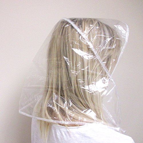 2 Visor Peak Rain Bonnet Reclosable Pouch Clear Plastic Cap Hair Hat  Waterproof 47bba23ee18a