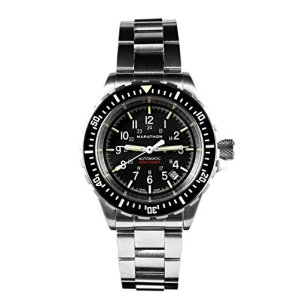 Marathon Watch GSAR Swiss Made Military Issue Diver's Automatic Watch with Tritium, 41 mm (No Government Markings - Stainless Steel Bracelet) SKU - WW194006BRACE-NGM