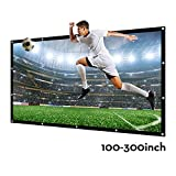 200 Inch Large Projector Screen 16:9 3D Portable Movie Screen Folding Projection Screen HD for Outdoor Indoor Home Theater