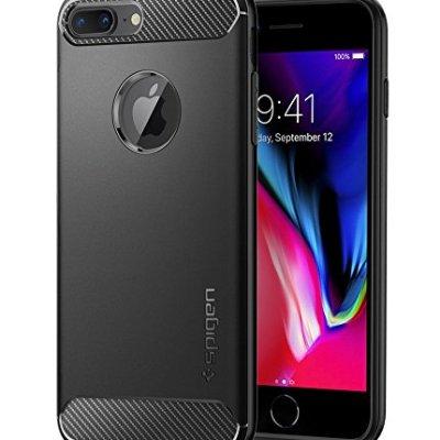 Spigen Ruggd Armor Cover iPhone 7 Plus / 8 Plus Massima Protezione Da Cadute e Urti er iPhone 7 Plus / 8 Plus – Nero Opaco