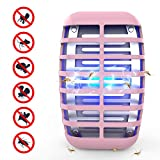 Greatico Bug Zapper - Mosquito Killer lamp Insect Trap -No Radiation-Insect Trap,Mosquito Trap Light for Indoor Bedroom, Kitchen, Office, Home (Pink)