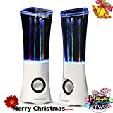 SoundOriginal 2016 Dancing Water Speakers 4 Led Light Show Fountain Mini Stereo Speakers (White)