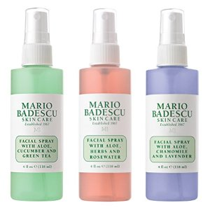 Mario Badescu Spritz Mist and Glow Facial Spray Collection Trio, Lavender, Cucumber, Rose 9