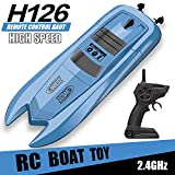 RC Boat Remote Control Boats for Pools and Lakes - H126 Mini Racing Boats 2.4GHz 10km/h High Speed Remote Control Boat for Kids Adults Boys Girls