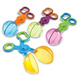 Learning Resources Handy Scoopers, Fine Motor Toy, Assorted Colors, Set of 4, Ages 3+