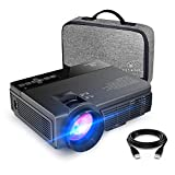 vankyo Leisure 3(Upgraded Version) 2400 Lux Mini Projector with 40000 Hours Lamp Life, LED Portable Projector Support 1080P and 170'' Display, Compatible with TV Stick, PS4, HDMI, VGA, TF, AV and USB