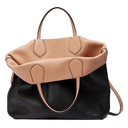 51HZijmbLoL Gucci Ramble Reversible Leather Shopping Tote Bag with Shoulder Strap 370823A7MDN1071 Black/Beige Measures 18 x 4 x 13 inches (length x width x height, inches) Leather material, upper. Contrast stitching, embossed GUCCI trademark