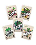 Microgreens Seeds Kit - 100% Non GMO - Broccoli, Radish, Peas, Spicy and Mild Mix for Planting and Sprouting Indoor