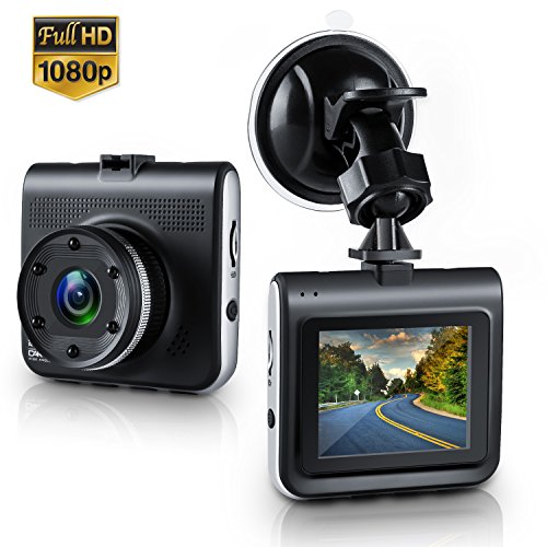 """Dash Cam,Amuoc Mini Dash Camera for Cars with FHD 1080P, 2.2"""" LCD, 170 Degree Wide-Angle View Lens, G-Sensor, WDR, Loop Recording, Great Night Vision"""