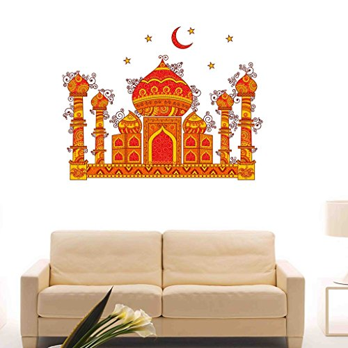 Decals Design 'Indian Art Taj Mahal Symbol of Love with Moon and Stars' Wall Sticker (PVC Vinyl, 50 cm x 70 cm x 1 cm) TODAY OFFER ON AMAZON