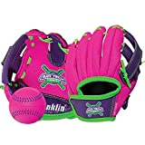 Franklin Sports Air Tech Adapt Series 8.5' Teeball Glove: Right Handed Thrower, Pink/Purple