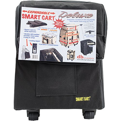 Smart Cart, Deluxe, Black Rolling Multipurpose Collapsible Basket Cart Scrapbooking