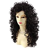 AMAZING SEXY Wild Untamed Long Curly Wig Black Brown Ladies Wigs WIWIGS