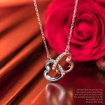 Kami Idea Collane da Donna – Il Mio Fatidico Amore – Ciondolo Cuore a Cuore, Gioielli da Donna, Cristalli di Swarovski…