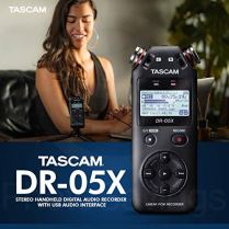Tascam-DR-05X-Stereo-Handheld-Digital-Audio-Recorder-with-USB-Audio-Interface-16GB-Microphone-Premium-Accessories-Bundle