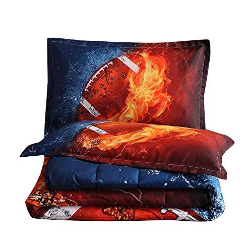 En-man Home Rugby Comforter Set Boys Teens Sports Fans Quilt Dorm Bedding Sets Full Size(rugby1)