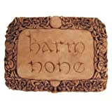 Harm None Wall Plaque Wood Finish