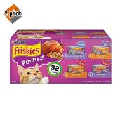 Purina-Friskies-Gravy-Wet-Cat-Food-Variety-Pack-Poultry-Shreds-Meaty-Bits-Prime-Filets-32-55-oz-Cans-2-Pack