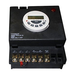 P1100 Series Swimming Pool Timers, 7 Day Digital Control, 240 VAC Input Supply, DPST Contact, 40A Resistive/Inductive Rating, 7.5 Hp