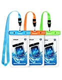 Mpow 024 Waterproof Case, Universal IPX8 Waterproof Phone Pouch Underwater Protective Dry Bag Compatible iPhone Xs Max/XS/XR/X/8/8P, Galaxy S10/S9, Google Pixel/HTC up to 6.5' (Blue Orange Green)