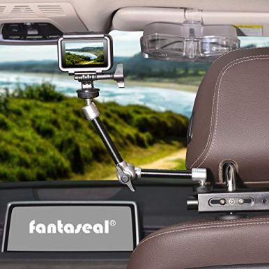 3in1-Heavy-Duty-Car-Headrest-DSLR-CamcorderAction-CameraSmartphone-Holder-Mount-Expansion-Kit-Driver-Cab-POV-Vlog-Rig-wMagic-Arm-for-Canon-Nikon-GoPro-iPhone-Samsung