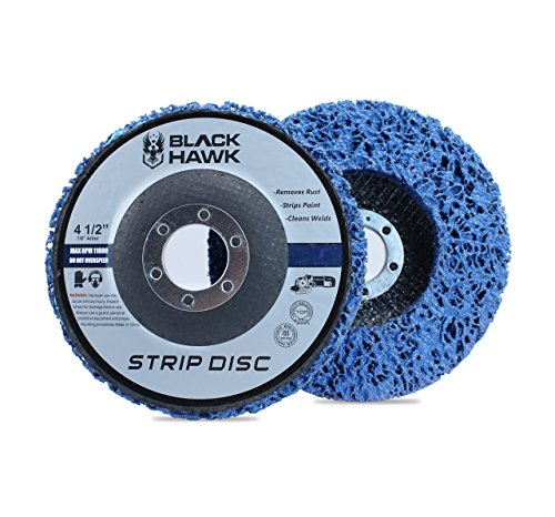 5 Pack - 4-1/2' x 7/8' Black Hawk Easy Strip Discs Clean & Remove Paint, Rust and Oxidation
