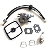 Carburetor & Tune Up Kit Air Filter Primer Bulb Spark Plug for for Zama C1U-K51 Echo HC-1500 HC-1600 HC-1800 HC-2000 HC-2400 HC-2410 Zama C1U-K45