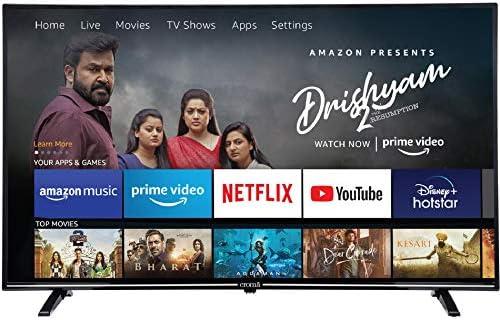 Croma 109 cm (43 inches) Fire TV Edition 4K Ultra HD Smart LED TV (CREL7366, Black) (2021 Model)
