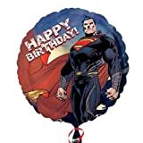 Superman Man Of Steel Happy Birthday 18 Inch Foil Balloon