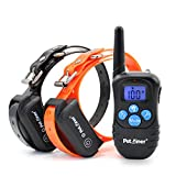 Petrainer PET998DBB2 100% Waterproof Dog Shock Collar with Remote Dog Training Collar with Beep/Vibra/Shock Electric E-collar, 300yd Range