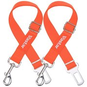 Vastar-2-Packs-Adjustable-Pet-Dog-Cat-Car-Seat-Belt-Safety-Leads-Vehicle-Seatbelt-Harness-Fluorescence-Orange