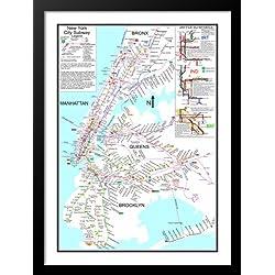 New York Subway Map Art.New York City Subway Map Art