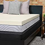 Sealy Perfect Chill 3-Inch Memory Foam Cooling Mattress Topper Washable Cover, 5 YR Warranty, Queen,
