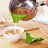 Kitchen Funnel Tools Pots and Pans To Prevent Spills Circular Rim Deflector Liquid Silicone Funnel