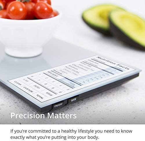 GreaterGoods Nourish Digital Kitchen Food Scale, Not-Connected, Digital Food Code App Download Included (New Backlit) 4
