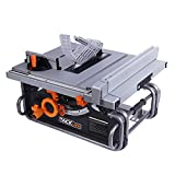 """Tacklife PTSG1A 10"""" Table Saw with 40""""X20"""" Max Extendable, 15 Amp 120V, Extra Carbon Brush"""