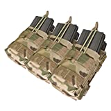 Condor Crye Precision Licensed MOLLE Triple Stacker (6 Mag) M4 Mag Pouch (Multicam Pattern)