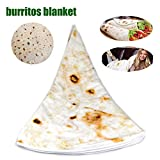Round Blanket,Funny Novelty Blanket,Mexican Pancakes Blanket,Kids Super Soft Warm Swaddling Blankets Throw Rug Sofa and Bed,Yoga Mat,Picnic Blanket. Single layer Microfiber Towel fabric 5ft Diameter