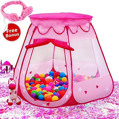 Le Papillon Pink Princess Tent Kids Ball...