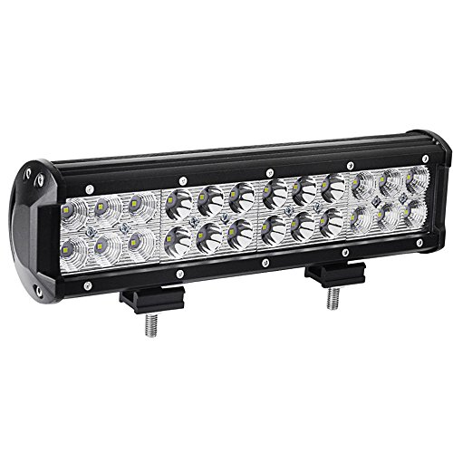 YITAMOTOR Led Light Bar ,12INCH 72W LED Light Bar Spot Flood Combo Led Driving Light Waterproof for Jeep off road Van Camper Wagon ATV AWD SUV 4WD 4x4 Pickup Van Off-road